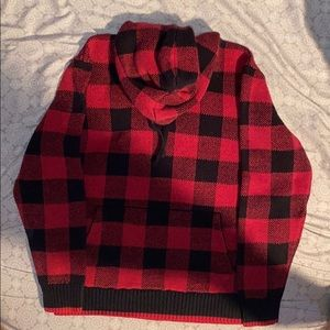 American Eagle black & red checkered hoodie